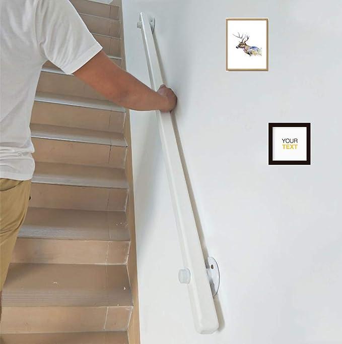 YUDE-6ft Barandilla de Escalera de Madera Maciza Blanca, barandilla Antideslizante de Pino, barandilla de Seguridad Interior, Adecuada para Barras, escaleras: Amazon.es: Hogar