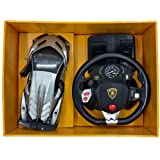 Baby N TOYYS Lamborghini Pedal Control with Door Opening Function Orange/Grey