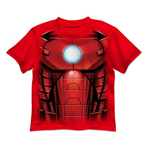 Little Boy Iron Man Costume (Marvel Little Boys' Iron Man Costume Tee (5/6))