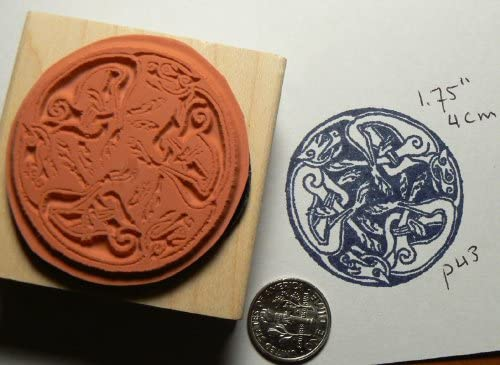 Celtic Dogs Rubber Stamp P44