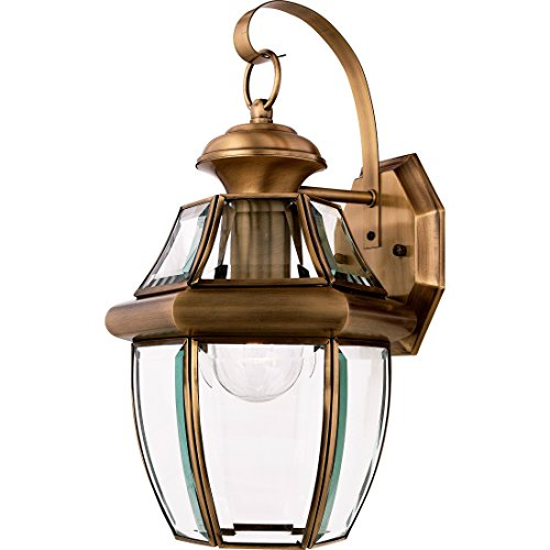 (Quoizel NY8316A Newbury 1-Light Outdoor Lantern, Antique Brass)