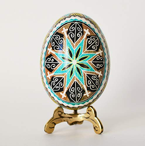Blue Pysanka with cross egregious gift ideas and home - Solid Cross Oval