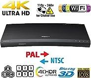 SAMSUNG K8500 UHD - Wi-Fi - Dual HDMI - 2K/4K - Region Free Blu Ray Disc DVD Player - PAL/NTSC - USB - 100-240V 50/60Hz for