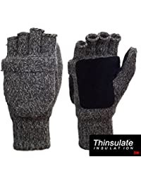 Suede Thinsulate Thermal Insulation Wool Mittens Gloves