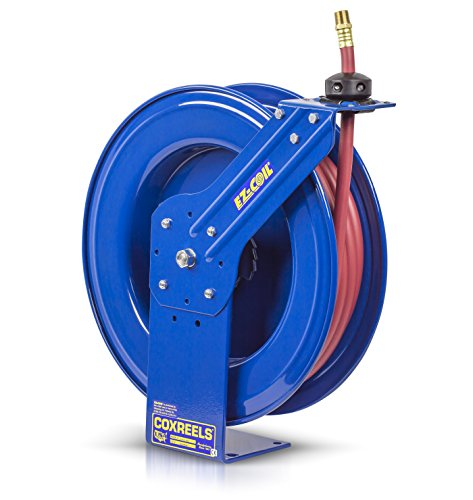 Coxreels Heavy-Duty Safety Air/Water Hose Reel with Hose, Model# EZ-SH-475, 1/2' Hose ID, 75' Length