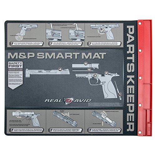 "Real Avid M&P Smart Mat - 19x16"", Smith & Wesson M&P Pistol Gun Cleaning Mat - Takedown Screw"