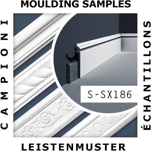 1 CAMPIONE S-SX186 Orac Decor LUXXUS CAMPIONE di modanatura Battiscopa Lunghezza circa 10 cm