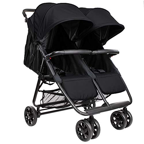 Zoe Twin+ (Zoe XL2) Stroller - Best Lightweight Double Stroller for Toddlers - Everyday Twin Stroller with Umbrella - UPF 50+ - Tandem Capable