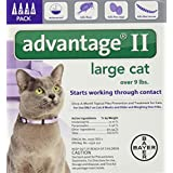Advantage II Monthly Flea Treatment - Large Cat - 4 ct