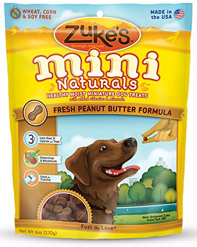 Zuke s Mini Naturals Dog Treats, Fresh Peanut Butt…
