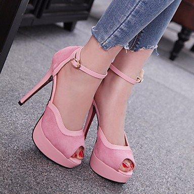 LvYuan-ggx Damen High Heels Komfort Pumps PU Frühling Sommer Sommer Sommer Normal Komfort Pumps Schwarz Purpur Rosa 12 cm & mehr fca330