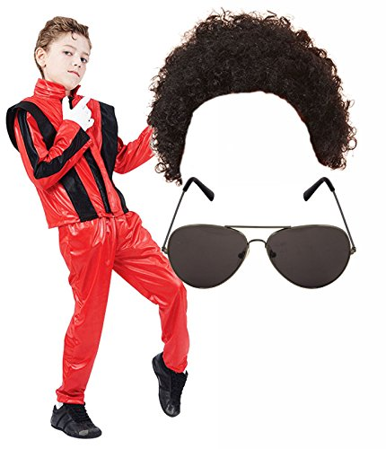 Boys Michael Jackson 80S Fancy Dress Costume With