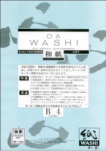OAWASHI Japanese traditional paper special thickness B4