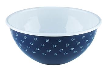 Riess Schüssel 18 cm blau Emailschüssel Küchenschüssel Emaille Email