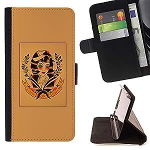 BullDog Case - FOR/Sony Xperia Z1 L39 / - / hippie freedom 60's retro wreath art /- Monedero de cuero de la PU Llevar cubierta de la caja con el ID Credit Card Slots Flip funda de cuer