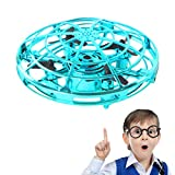 ZGYQGOO Hand Operated Drones for Kids 6 8 10 Year Old - Drone Toys for 5 6 7 8 9 10 Year Old Girls and Boys, Mini Easy Indoor Small Orb Flying Ball Indoor/Outdoor Teen Girl Gifts Blue