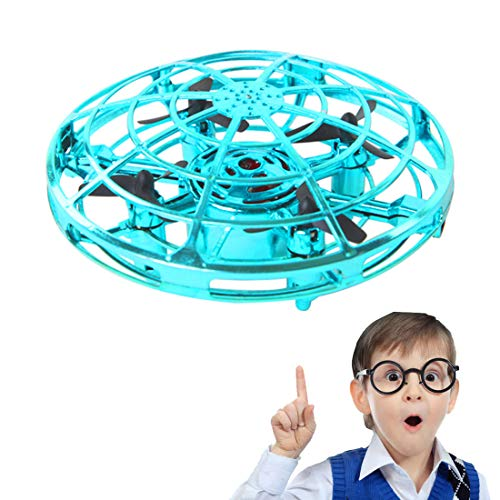 ZGYQGOO Hand Operated Drones for Kids 6 8 10 Year Old - Drone Toys for 5 6 7 8 9 10 Year Old Girls and Boys, Mini Easy Indoor Small Orb Flying Ball Indoor/Outdoor Teen Girl Gifts Blue by ZGYQGOO (Image #1)