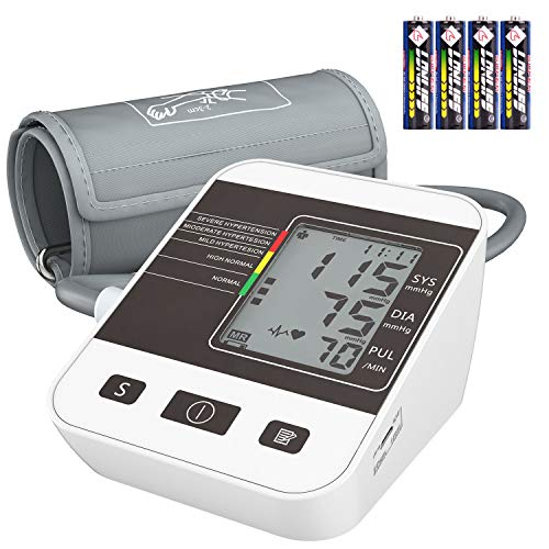 - Blood Pressure Monitor for Home Use with Large LCD Display,Annsky Digital Upper Arm Automatic Measure Blood Pressure and Heart Rate Pulse,2 Sets of User Memories