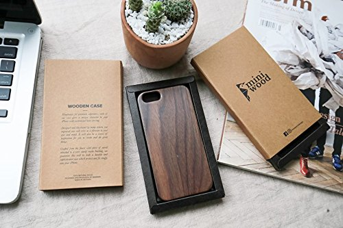 No Pattern - Miniwood iPhone/ Samsung Case - Natural Real Wooden, Laser Engraving, Unique Case, Unique, Classy & Stylish Wood, Protective Bumper with Real All Wooden Cover