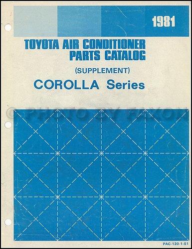 Toyota Corolla Catalog - 1981 Toyota Corolla A/C Parts Catalog Supplement Original