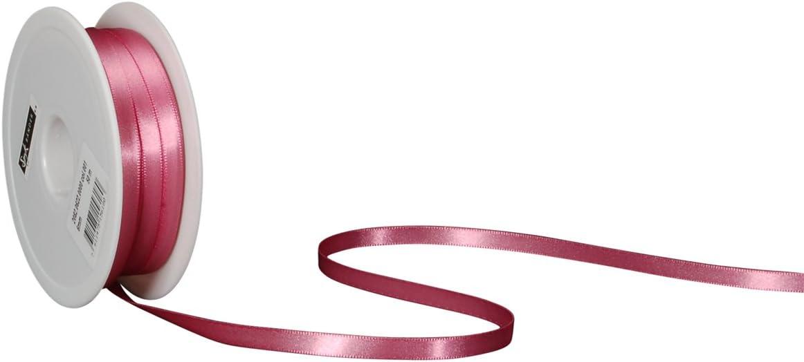 50 m Arancio Scuro Spyk B/änder 2082.0622.0000-066 Nastro Doppio Raso per Regalo 6 mm