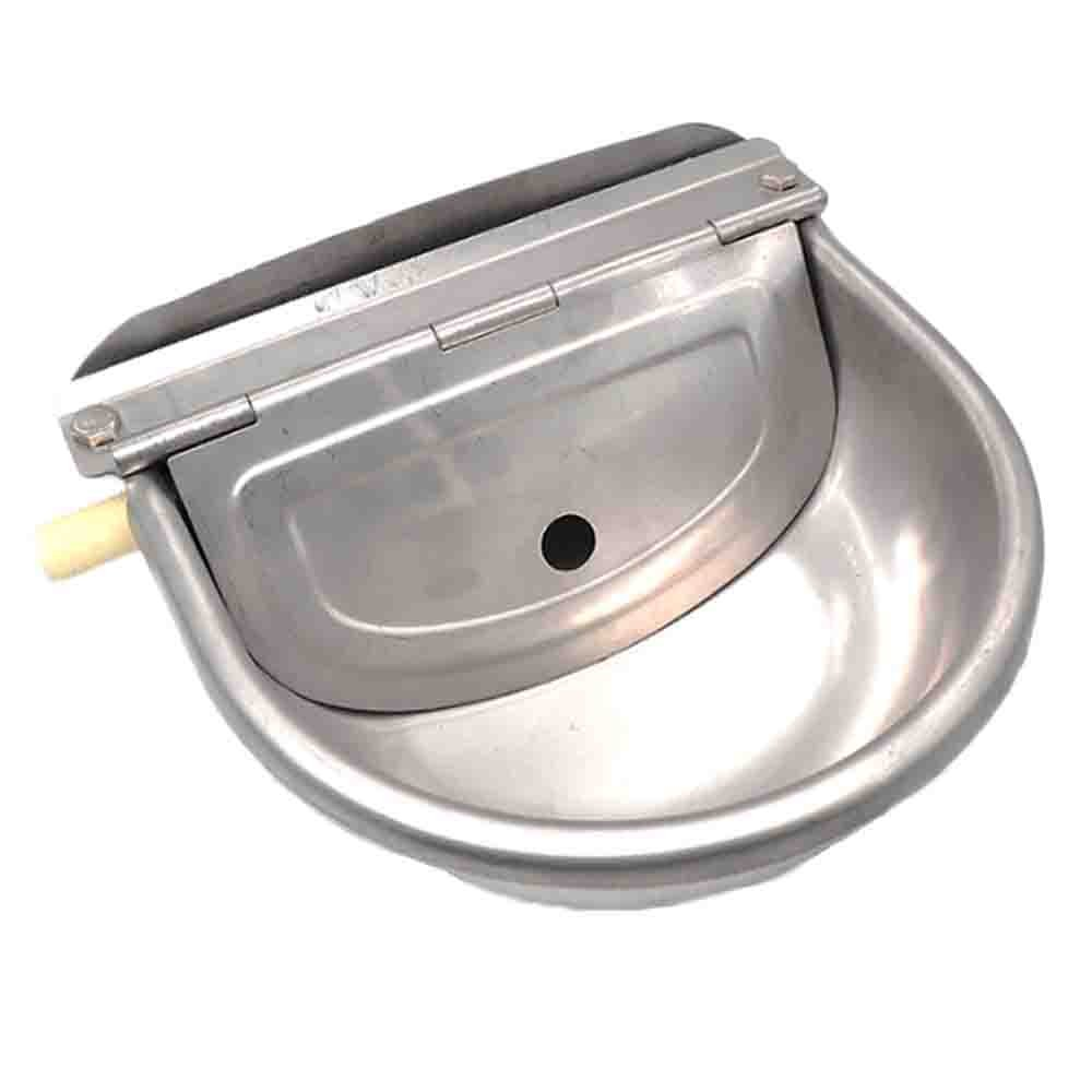 Automatic Water Bowl For Dog Cattle Sheep Horse Float Valve Stainless Steel Large Water Trough Spill Proof