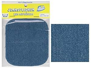 Yaba Handels GmbH - Parche adhesivo para plancha (tela vaquera), color azul