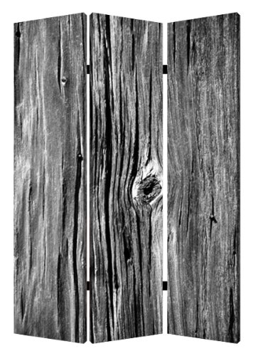Screen Gems Distressed Wood Canvas Room Divider by Screen Gems