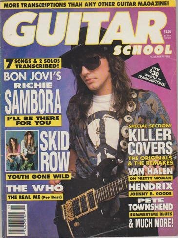 (Guitar School Magazine (November 1989) (Bon Jovi's Richie Sambora - Skid Row - The Who - Van Halen - Hendrix -)