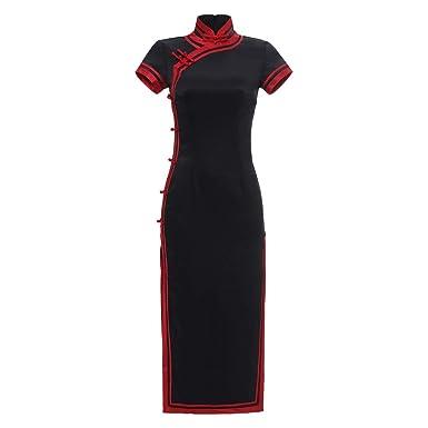 YCLOTH Vestido chino para mujer Cheongsam Qipao - Traje ...