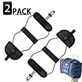 Bag Bungee, 2 Pack Luggage Bungee Strap Add a Bag, OYF Adjustable Travel Suitcase Belt Travel Accessories, Lightweight and Durable(Black)