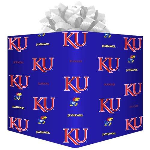 (NCAA Kansas Jayhawks Logo Gift Wrap Paper - Royal)