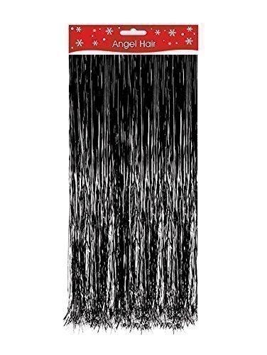 Black Christmas Xmas Decoration Angel Hair Tinsel Shredded Tinsel Decorate Tree The Home Fusion Company