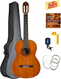 Yamaha CGS104A Full-Size Classical Guitar Bundle with Gig Bag, Tuner, Instructional DVD, Strings