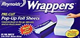 Reynolds Pre-cut Pop-up Foil Sheets Food Wrappers