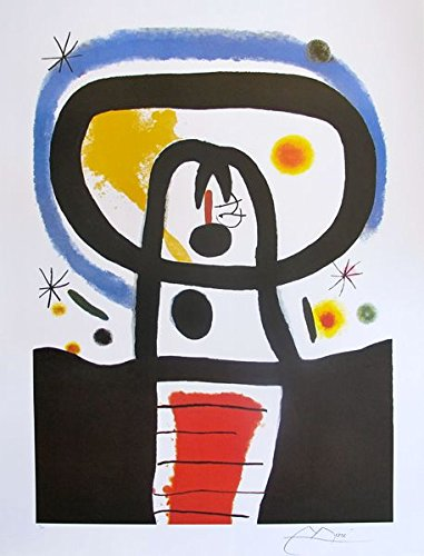 Wall Art by Joan Miro Equinox Limited Edition Facsimile Signed Lithograph Print. After the Original Painting or Drawing. Measures 33¾