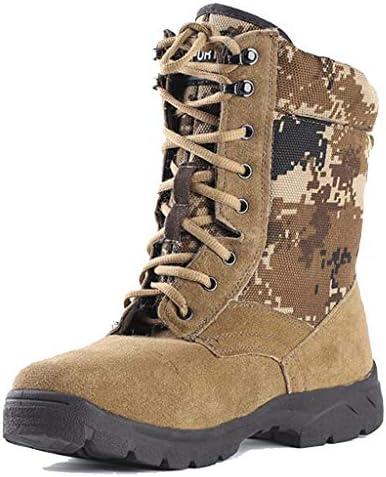 男性ハイのためのウォーキングブーツシューズスポーツブーツウォーキングブーツ登山ハイキングブーツ軽量トレッキングウォーキングシューズマン滑り止めのアンクルブーツライズ (Color : Camouflage, Size : 6.5UK)