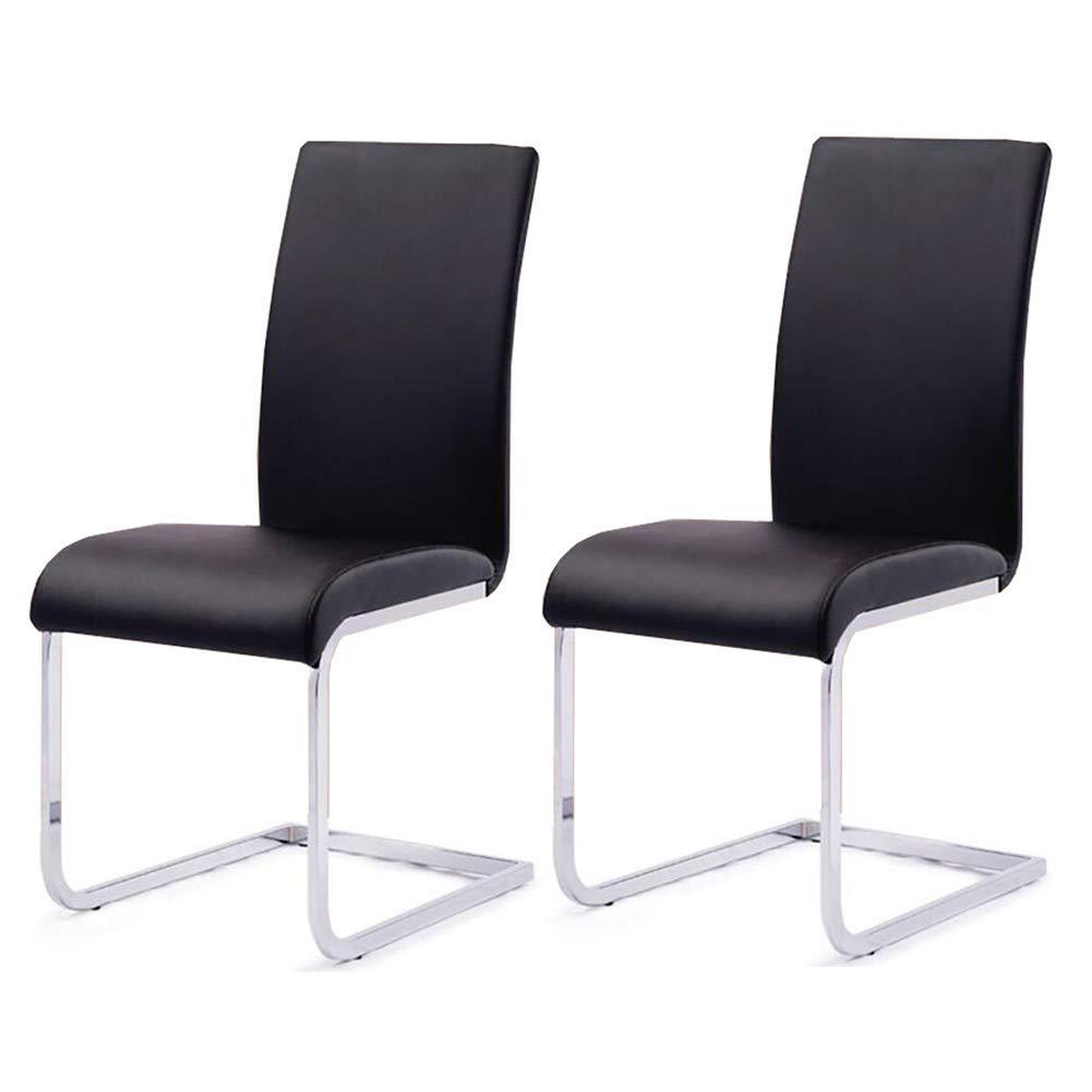 Amazon.com: QQXX - Juego de 2 sillas de comedor CJC de piel ...