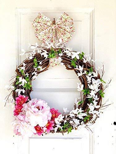 Amazon Com Farmhouse Decor Spring Wreath For Front Door Handmade