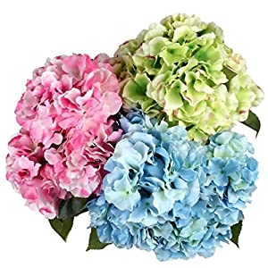 Celine lin 5 Big Heads Artificial Silk Hydrangea Bouquet Fake Flowers Bunch Home Hotel Wedding Party Garden Floral D¨¦cor 2