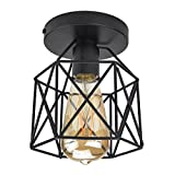 interesting contemporary closet design Lysed Semi-Flush Mount Ceiling Light E26/27 Edison Bulb Industrial Vintage Style Black Painting Finish for Hallway Study Room Office Bedroom Decoration Vanity Lights Hanging Light Fixture