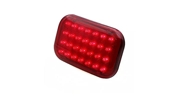 Timloon Car LED Magnetic Emergency Light Traffic Safety Warning Flashing Light with Built-in Rechargeable Battery,28-Diodes,Powerful Magnet Red