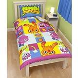 Childrens/Kids Moshi Monsters Single Duvet Cover Bedding Set (Single Bed) (Blue/Green)