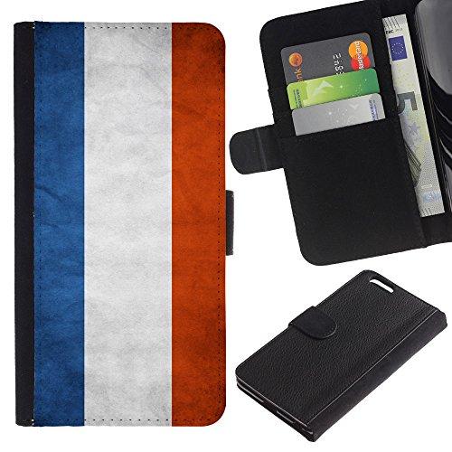 EuroCase - Apple Iphone 6 PLUS 5.5 - Netherlands Grunge Flag - Cuir PU Coverture Shell Armure Coque Coq Cas Etui Housse Case Cover