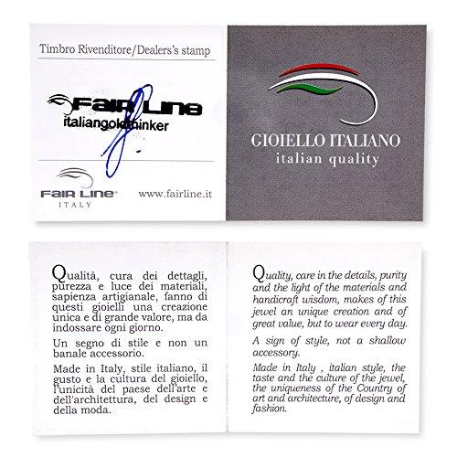 Gioiello Italiano Bracelet en argent 925 caoutchouc naturel et zircones