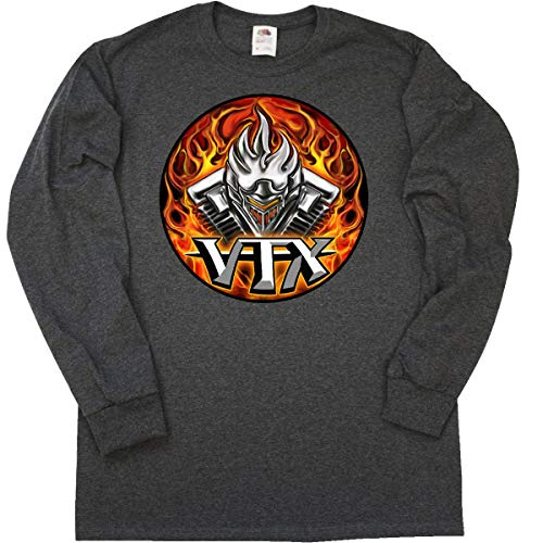 T-shirt Vtx - inktastic - VTX Long Sleeve T-Shirt X-Large Retro Heather Black - WickedApparel by Michael Spano 1eea9