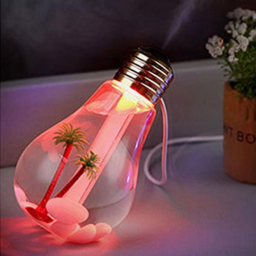 Highpot Lamp Shape Decorative Lights USB Air 7 Colour Diffuser Beatles Humidifier Purifier Atomizer Home Decor