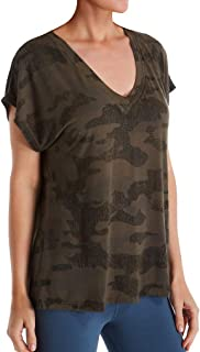 product image for Hard Tail Women's Camo Slouchy V-Neck Short Sleeve T-Shirt SIR01CAMO