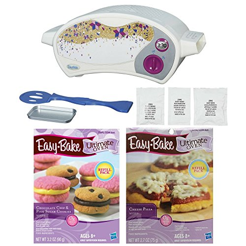 Easy-Bake Ultimate Oven Baking Star Edition (with Cheese Pizza Refill Pack and Chocolate Chip and Pink Sugar Cookies Refill Pack) (Easy Bake Ultimate Pizza)