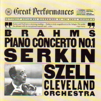 Price comparison product image Brahms Piano Concerto 1 - Serkin Szell (CBS Great Performances)